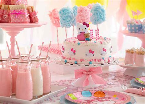 party themes easy birthday party ideas hello kitty use simple cake from