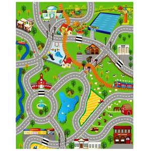 Floor Play Mat Car Set And Carrying City Playmat Town Cars Play Farm