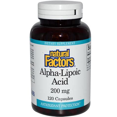 alpha g supplement factors alpha lipoic acid 200 mg 120 capsules