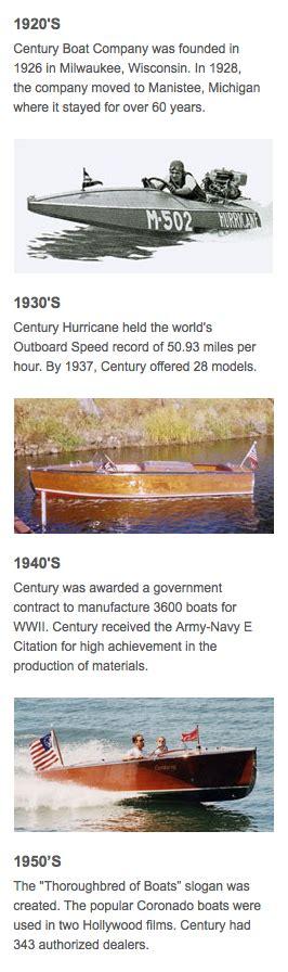 century boats history history of century boats