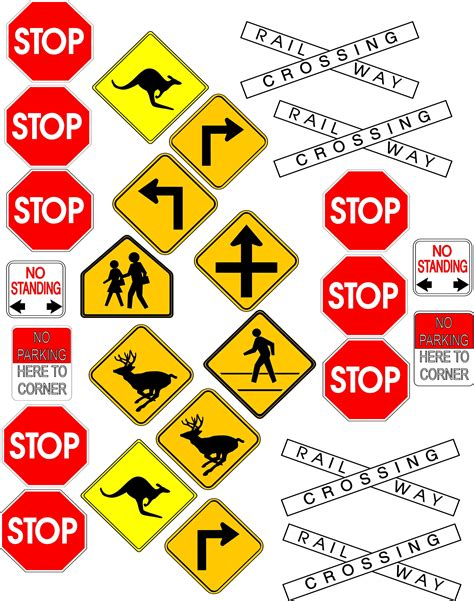 printable road signs and meanings street signs and symbols moneysigns clipart best