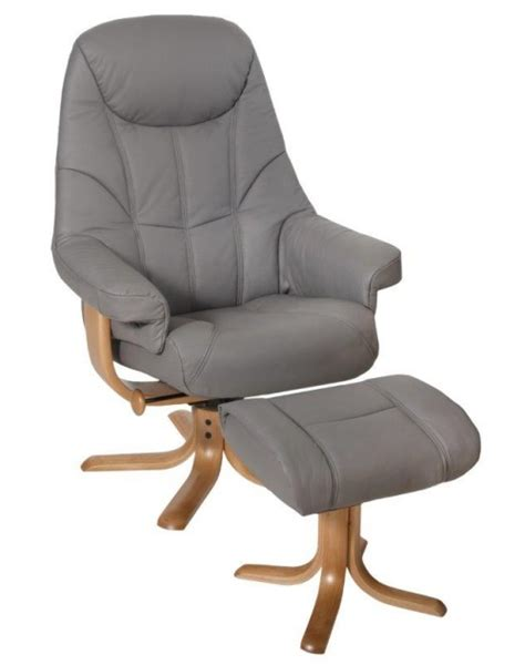 Reclining Chair And Stool by Elano Globe Recliner Swivel Chair And Stool Leather Pvc 163 734
