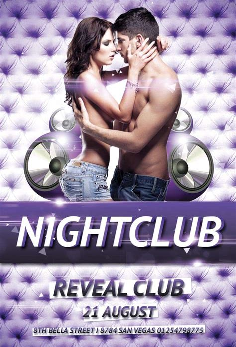 Free Nightclub Party Psd Flyer Template Download Nightclub Party Flyer Celebration Flyer Template Free