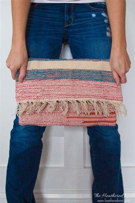 tutorial woven clutch  tassels   discount rug