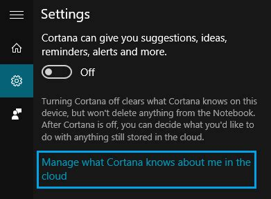 how to manage cortana settings on the windows 10 fall how to disable cortana in windows 10 and clear your