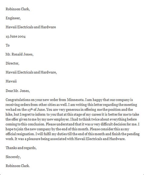formal resignation letter template doc 694951 resignation letter sle in word 18 photos