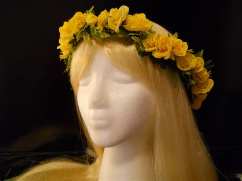 Yellow Sunflo Flower Crown yellow flower crown wreath yellow for yellow boho