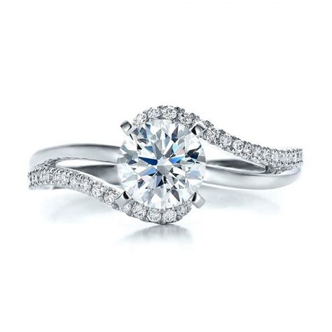 unique modern engagement rings contemporary