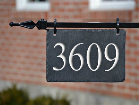 hanging house numbers for l post hanging house numbers mailbox lpost carved stone address