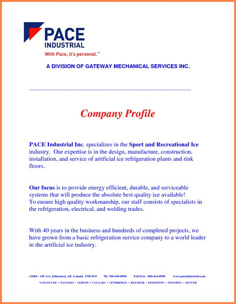 business overview template 4 manufacturing company profile sle company letterhead