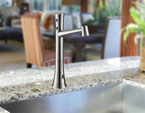 touch free kitchen faucets touch free kitchen faucet for residential pro