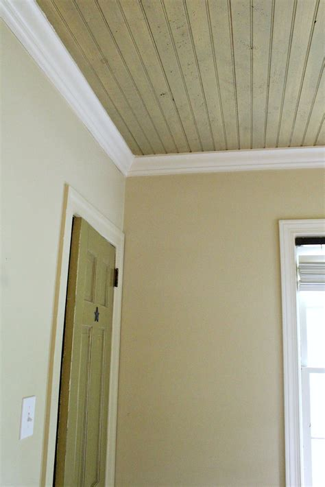 painted beadboard ceiling ten june nursery update a freshly painted baby boy s
