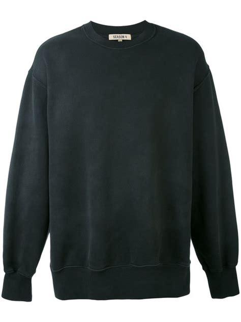 Yeezy Calabasas Crewneck Black White yeezy black calabasas boxy crewneck sweatshirt modesens