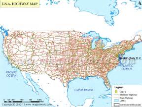 hwy map map of united states with cities and highways