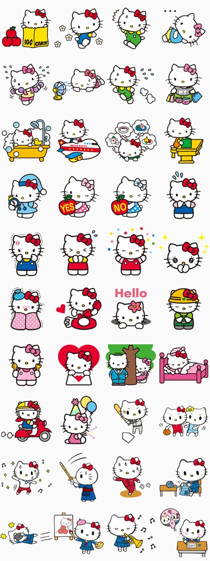 theme line hello kitty free hello kitty animated stickers pop up line stickers