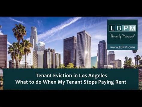 Los Angeles Apartment Eviction Process When To Start The Rental Eviction Process