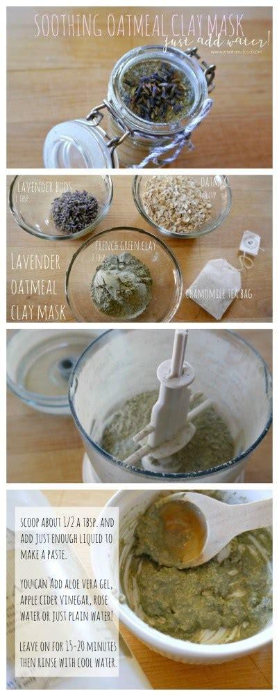 oatmeal mask diy diy oatmeal lavender and clay mask raincloud