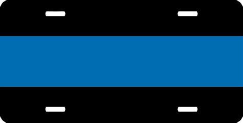 Thin Blue Line License Plate Sticker
