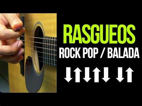 acordes de guitarra pop rock rasgueos de guitarra rock pop balada aprende guitarra