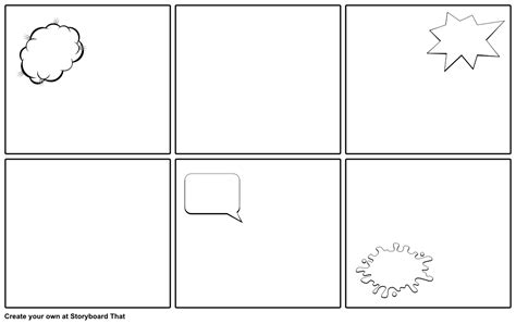 blank comic strip template storyboard by emily
