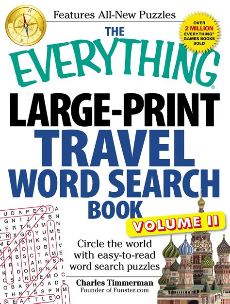 the everything large print tv word search book volume 2 120 must see word searches for tuned inâ tv fans books the everything large print travel word search book volume
