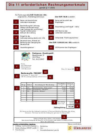 Musterrechnung F R Schweiz musterrechnung die 11 erforderlichen rechnungsmerkmale