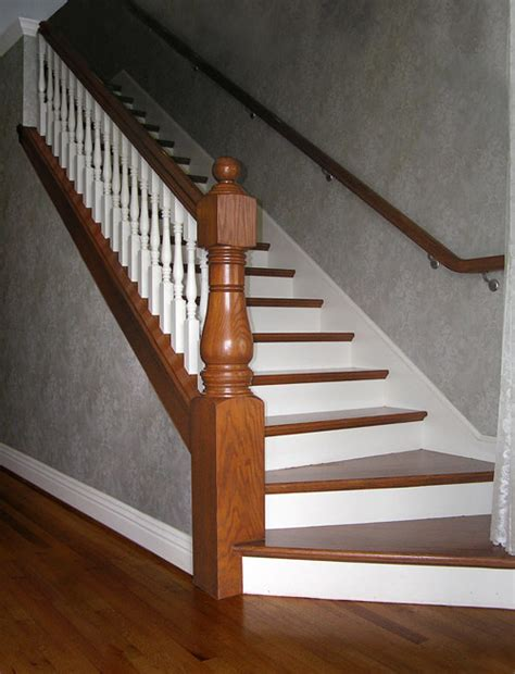 victorian banister bottom of indoor stair cases with wider bottom steps