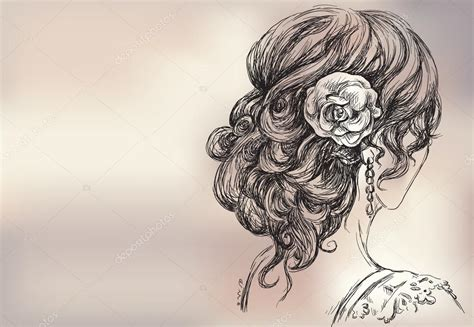 beautiful hairstyles drawing girls hairstyles drawings