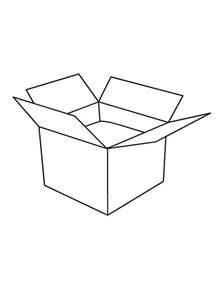 box color empty treasure box coloring pages