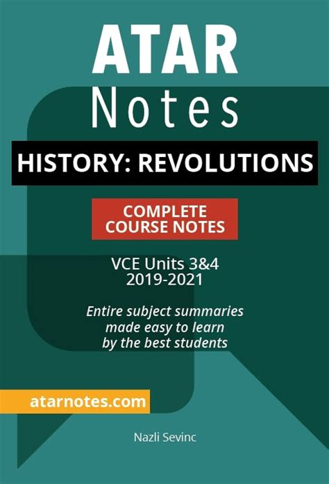 vce history revolutions units  notes atar notes