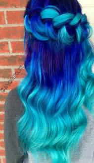 royal blue hair color ombre colors and blue and on