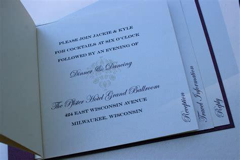 watermark wedding invitations stacked layer damask watermark booklet invitation