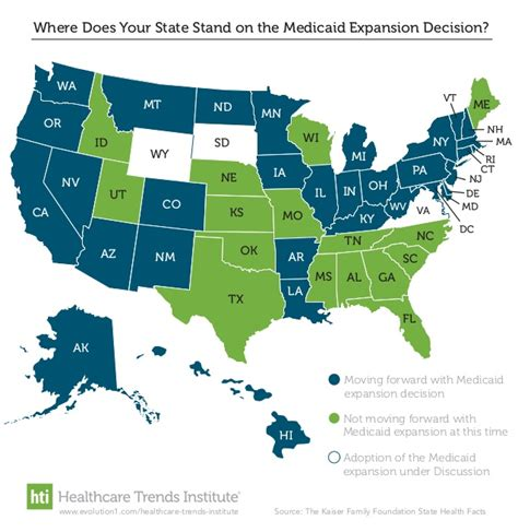 medicaid expansion map where does your state stand in 2016