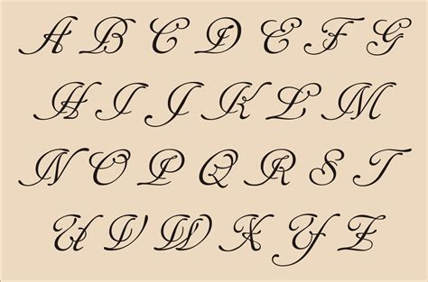 joined tattoo font fancy cursive handwriting fancy cursive letters alphabet
