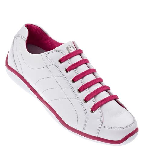 footjoy lopro spikeless golf shoes white pink 2013