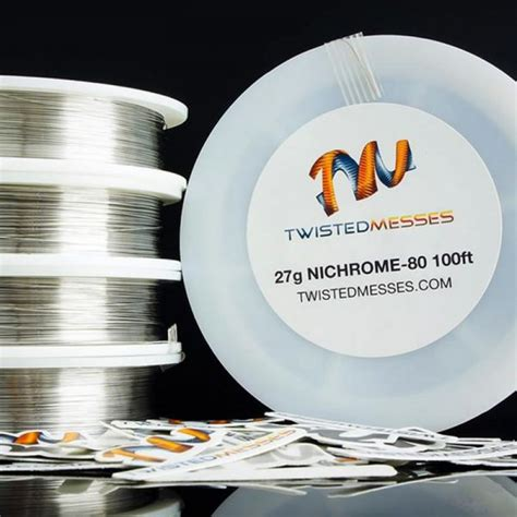 Best Quality Vaportech Nichrome 80 Ni80 30feet 24 twisted messes nichrome 80 wires custom vapes uk
