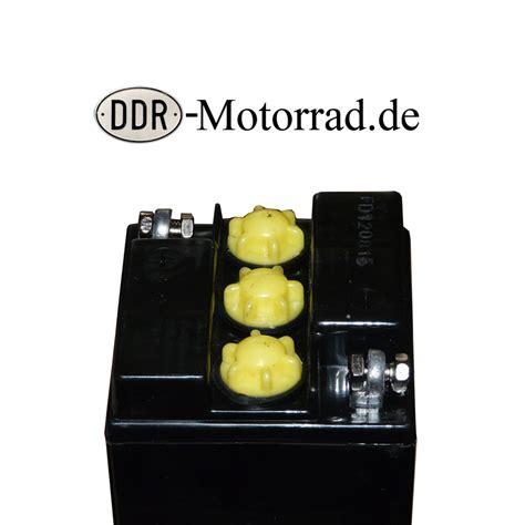 Motorrad Batterie Inbetriebnahme by Batterie 6v 12ah Iwl Pitty Wiesel Ddr Motorroller