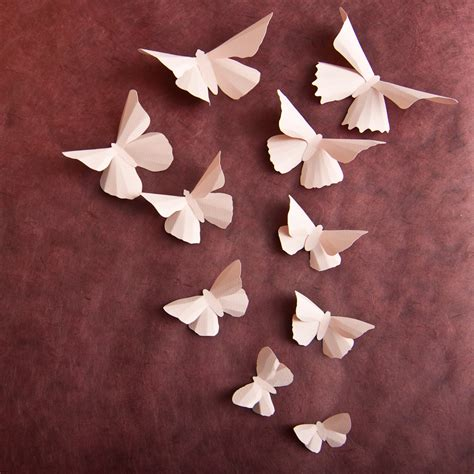 Butterfly Walldecor 40rb 3 3d wall butterflies pale pink butterfly wall for baby
