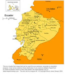 quito ecuador map south america