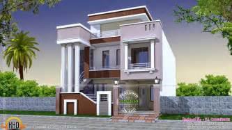 Cute House Designs by Cute Modern Home With Long Pillars Kerala Home Design
