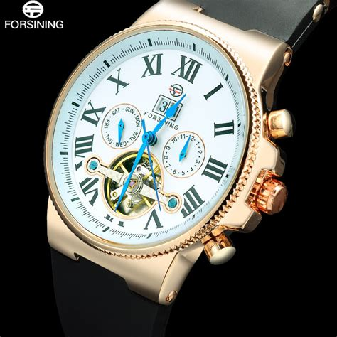 2016 luxury top brand automatic 2016 forsining mechanical tourbillion automatic