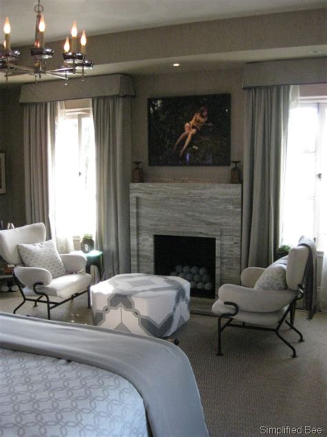 seating area in bedroom elle decor showhouse san francisco glamorous master