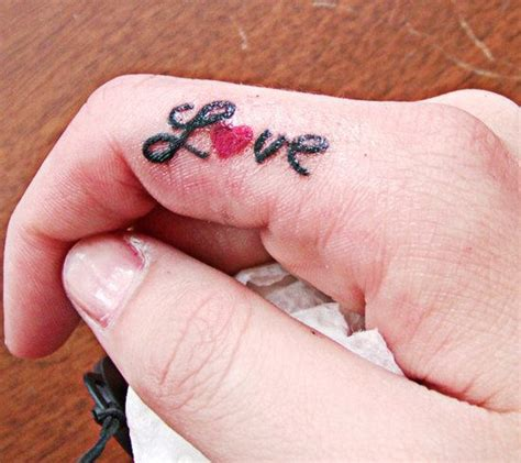 tattoo on finger love 20 best love tattoos ideas