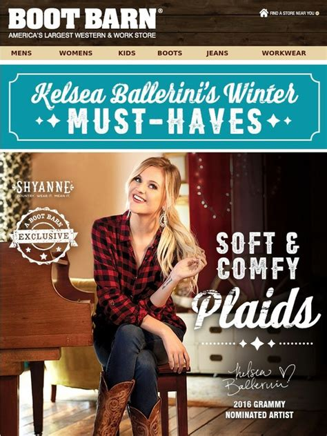 boot barn rewards bootbarn kelsea ballerini s 5 winter must haves milled