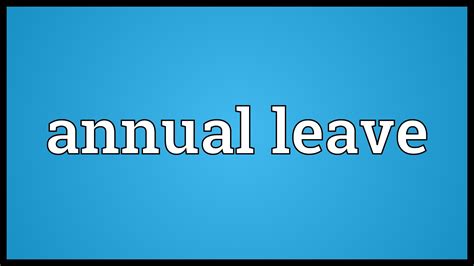annual leave meaning