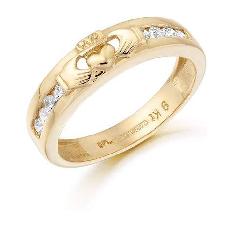 9ct gold claddagh wedding band cl27