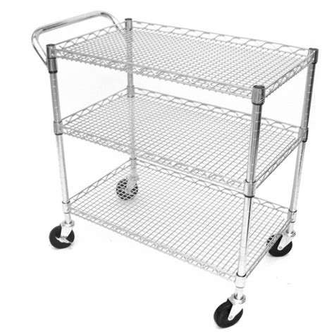 seville classics 3 shelf commercial utility cart