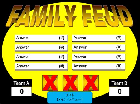 Family Feud Game Template Powerpoint Free 6 Free Family Family Feud Template For Teachers
