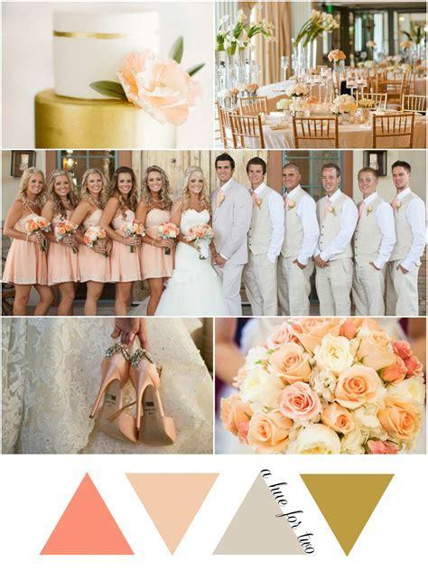Peach, Gold and Ivory Elegant Wedding Colors   Wedding
