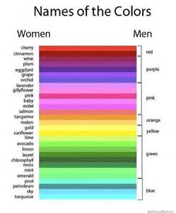 name of color names of colors women vs men weknowmemes